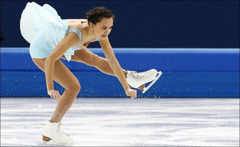 KUNST: Anne Line Gjersem i aksjon i OL-debuten i går. Det ga 24. plass og finaleplass i dag. Foto: NTB Scanpix