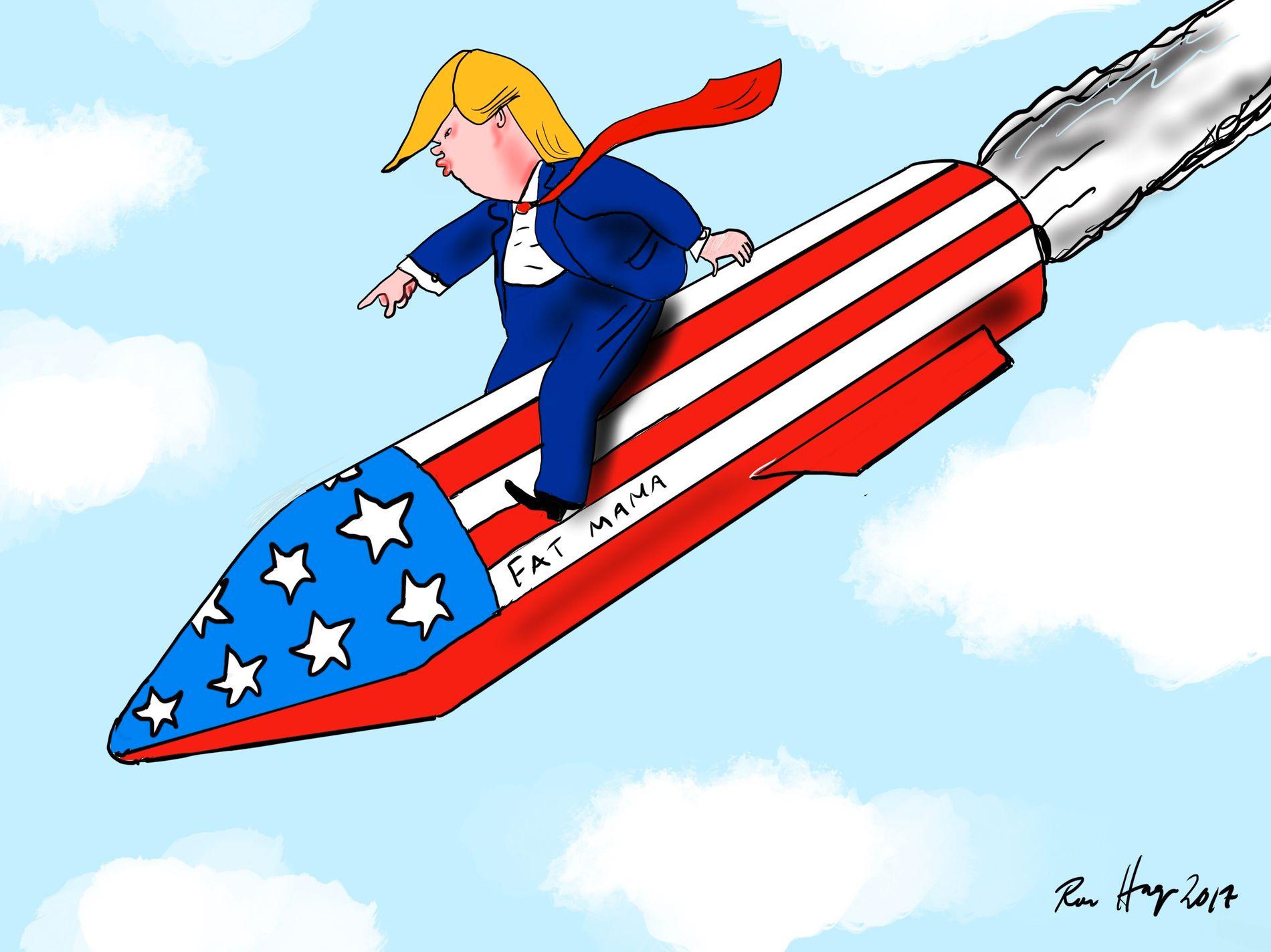 Trump er villig til å sette atommakt bak kravene.
