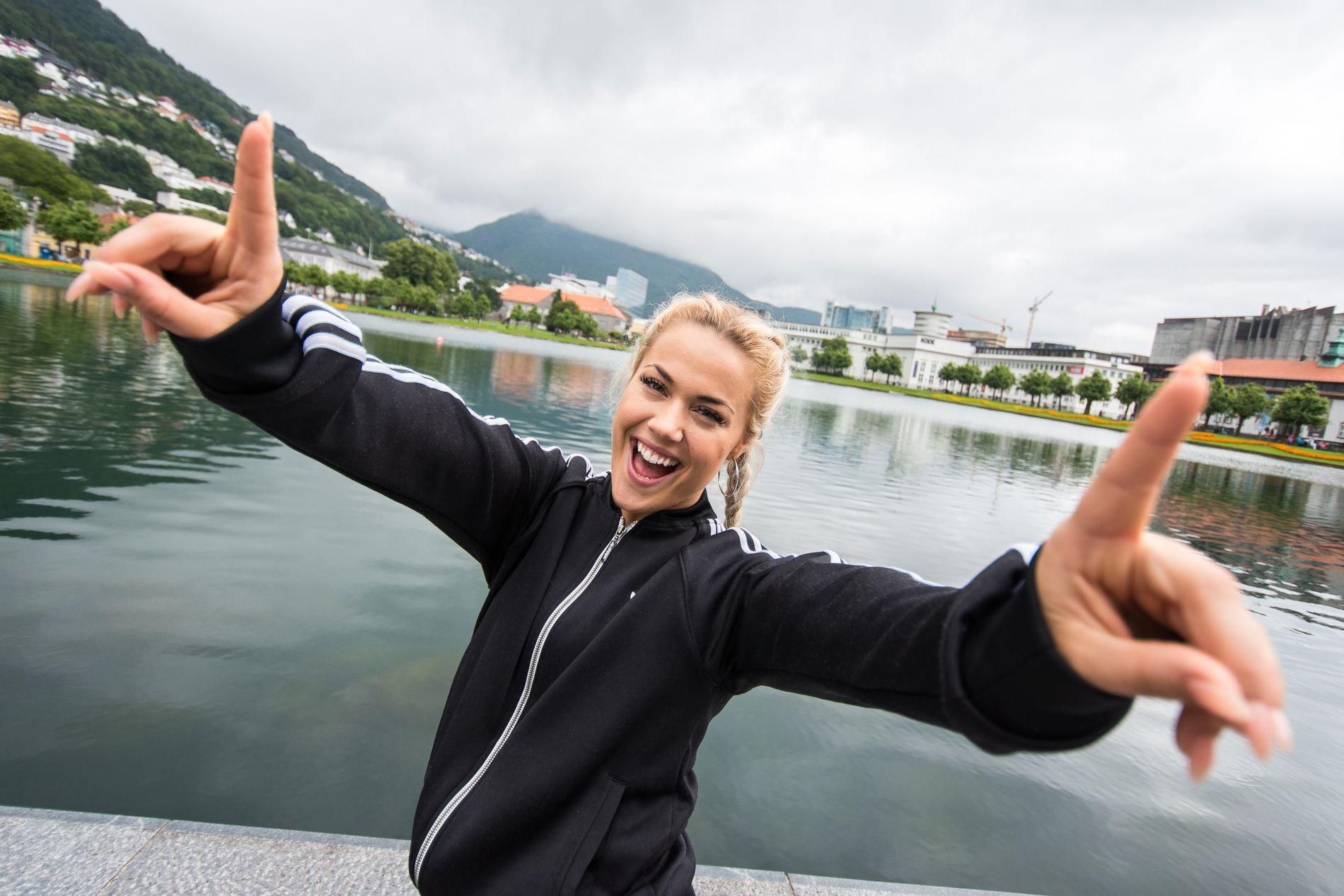 NUMBER ONE: Julie Bergan legger ikke skjul på at hun er gira på førsteplassen!