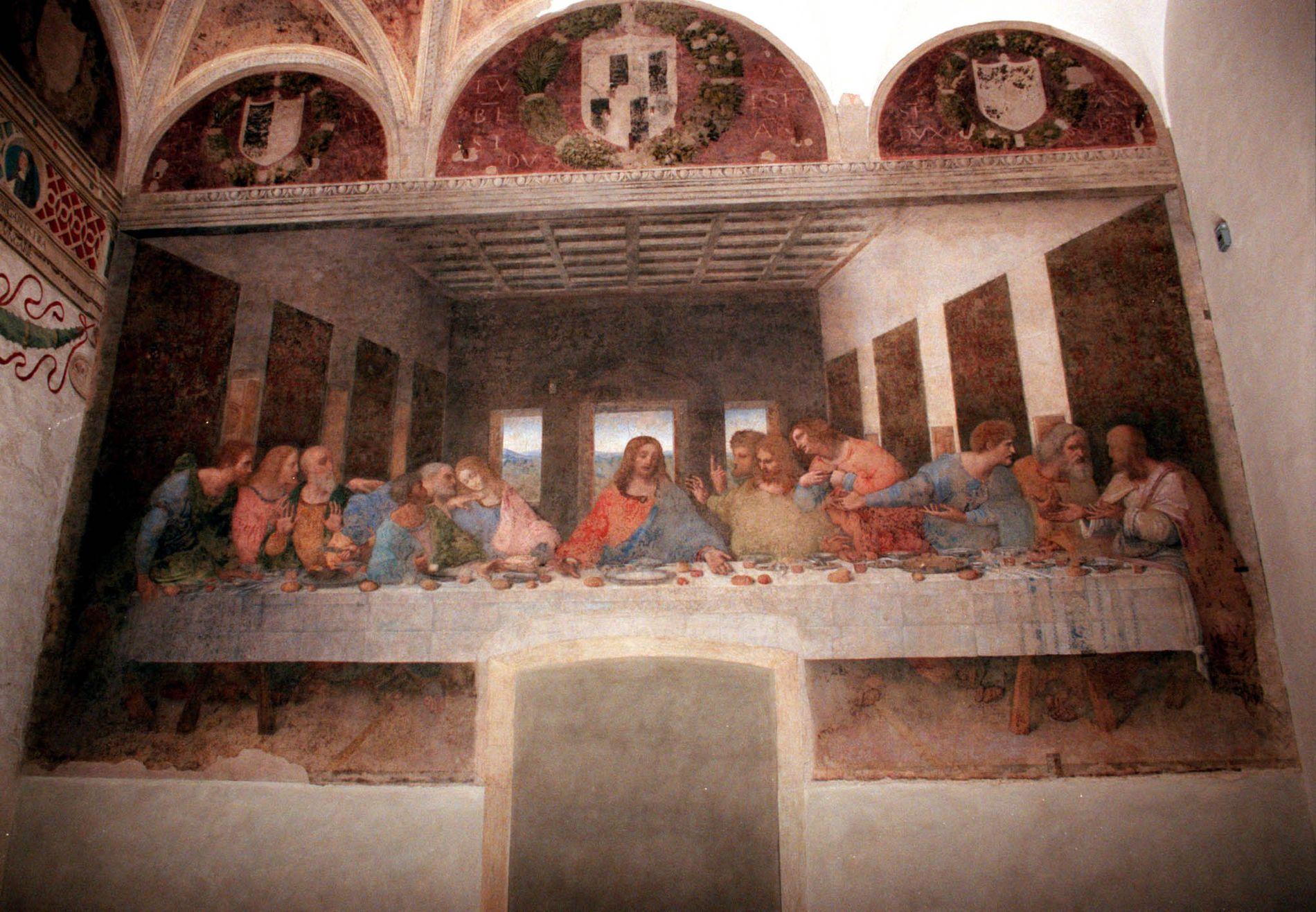 JESU BLOD: – Vinen lovprises vinen av flere bibelske forfattere, skriver Kim Larsen. Leonardos berømte freske «Det siste måltid» kan oppleves i Santa Maria delle Grazie-kriken i Milano.
