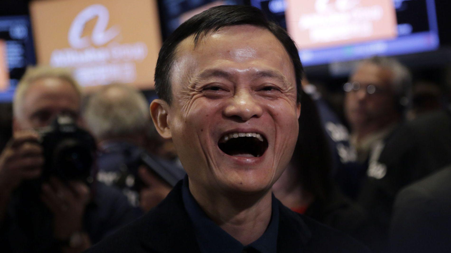 OPP OPP OPP: Det ble en god dag for Alibaba Group Holding Ltd og grunnleggeren Jack Ma under den første dagen på New York-børsen fredag.
