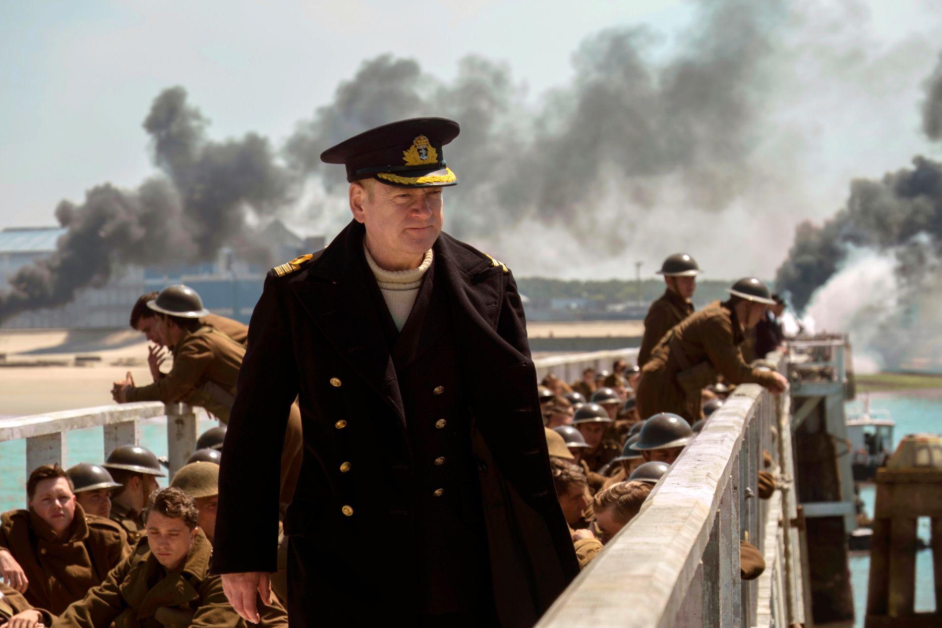 "KRIG: Bildet viser Kenneth Branagh i en scene fra ""Dunkirk."" Foto: MELISSA SUE GORDON/WARNER BROS VIA AP"