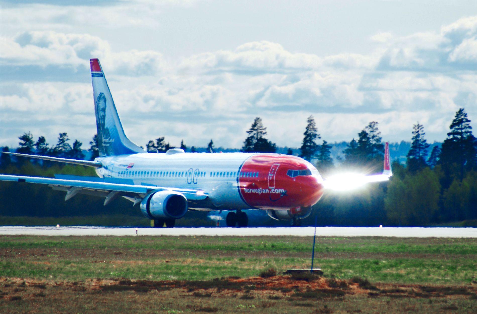 PÅ BAKKEN: Flyselskapet Norwegian kansellerte minst 19 avganger mandag. det inkluderte ruter mellom Oslo og Krakow, København og Barcelona.