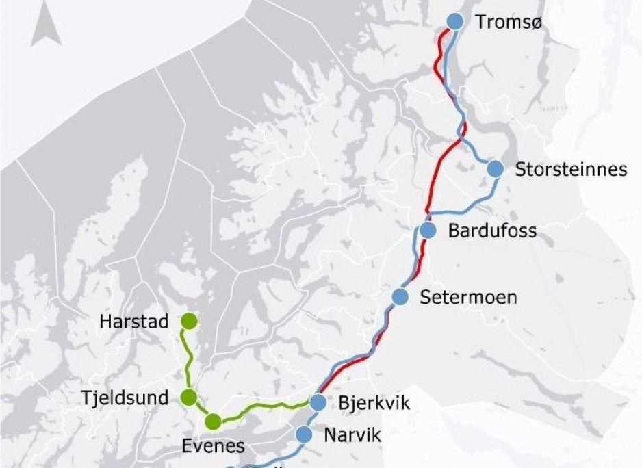 FRA TROMSØ TIL SVERIGE: Tromsø-ordfører Kristin Røymo (Ap) mener det er lurt å starte med Nord-Norgebanens del mellom Tromsø og Narvik. Det gir tilknytning til det svenske jernbanenettet og åpner for laksetransport den veien.