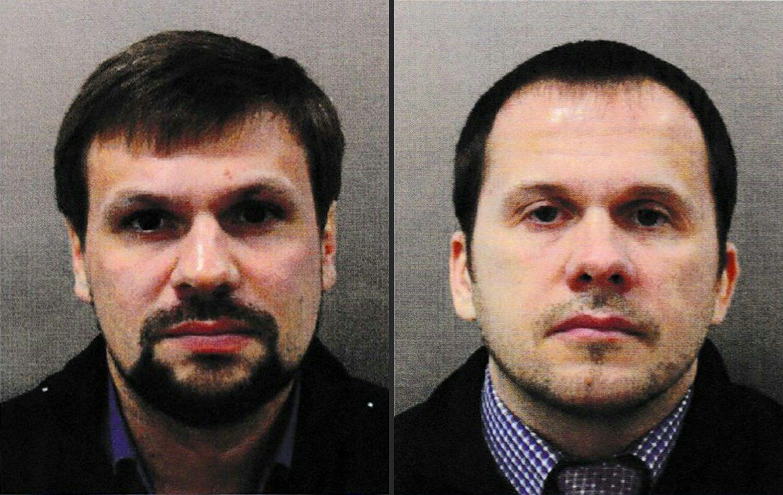 ALIAS: De to russerne kom til Storbritannia som Ruslan Bosjirov (t.v.) and Aleksander Petrov. Nå er det avslørt at begge i virkeligheten er ansatt i etterretningstjenesten GRU.