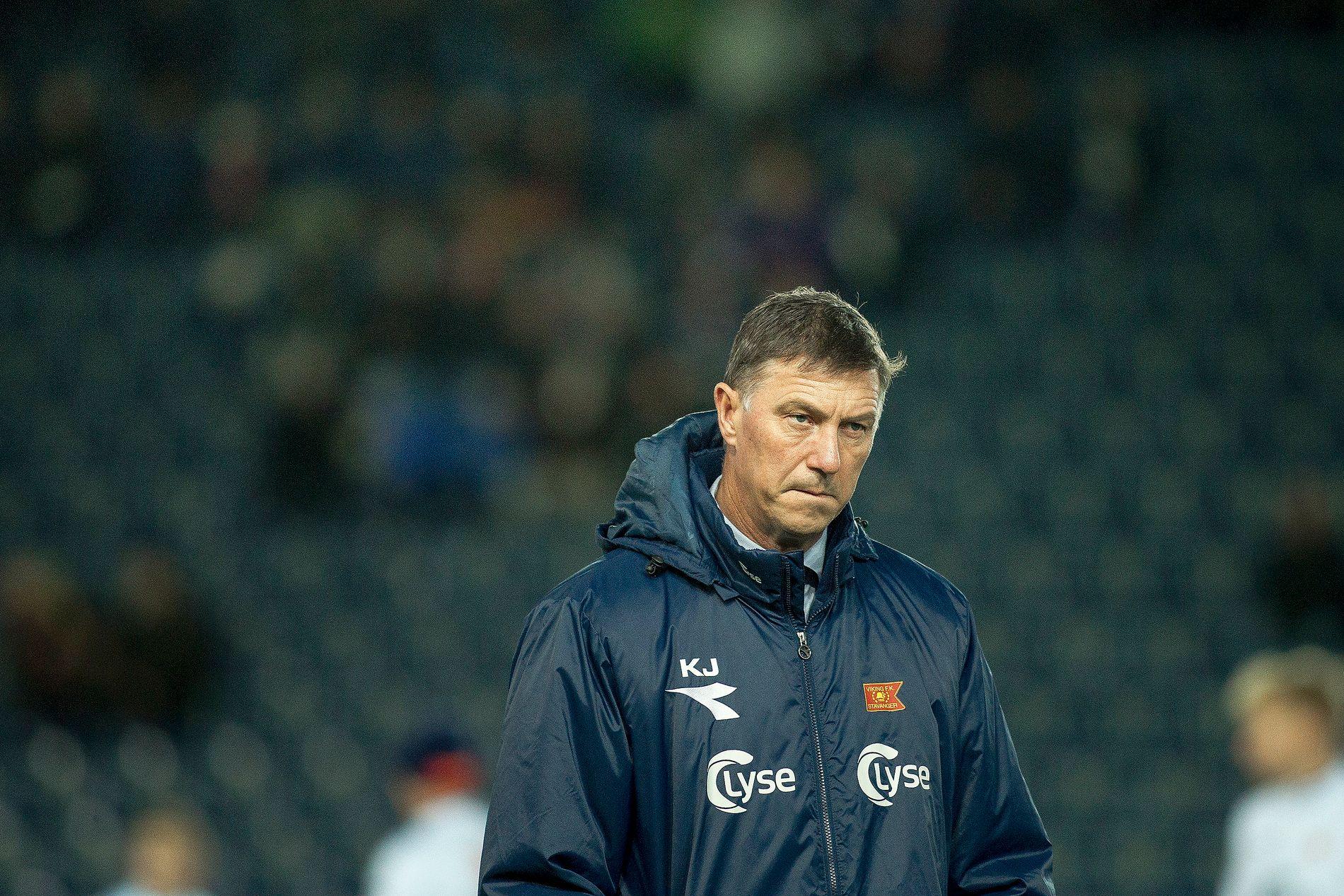 AVSLUTNINGEN: Her har Kjell Jonevret ledet Viking i sin siste kamp. Det endte med 0-2 for Vålerenga hjemme på Viking Stadion for en uke siden.
