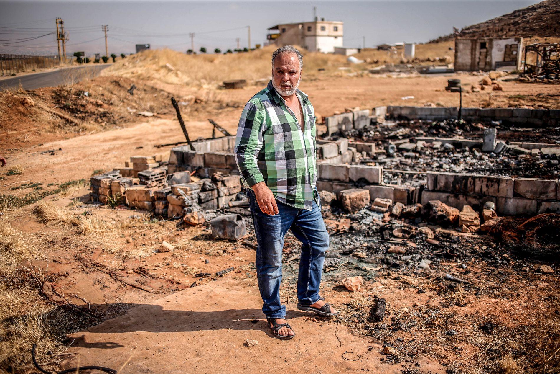 FORBANNET: Michel Rahmeh (53) var en av mennene i en gruppe på 200 landsbyboere som angrep en leir for syriske flyktninger.