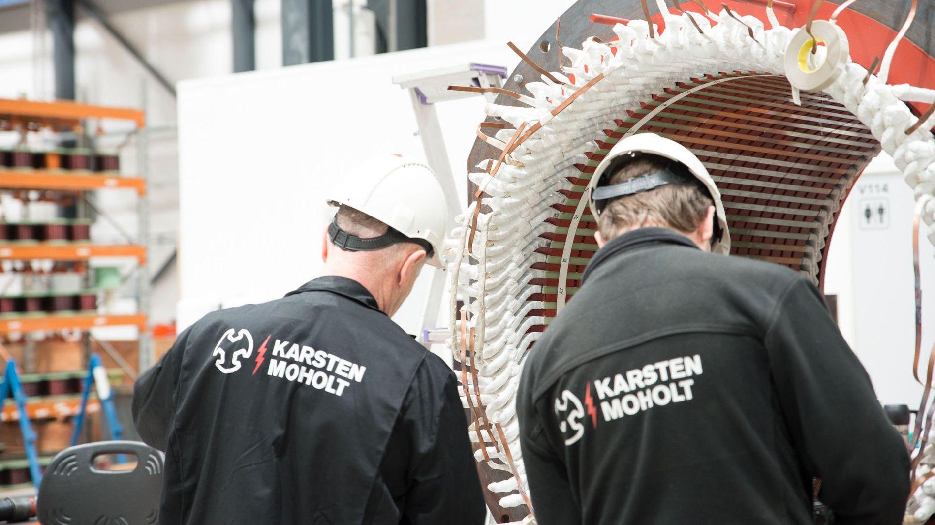 KUTTET LØNNEN: 91 prosent av de ansatte i Karsten Moholt AS sa ja til å redusere lønnen med fem prosent da oljebremsen gjorde at det ble hardere tider for bedriften.