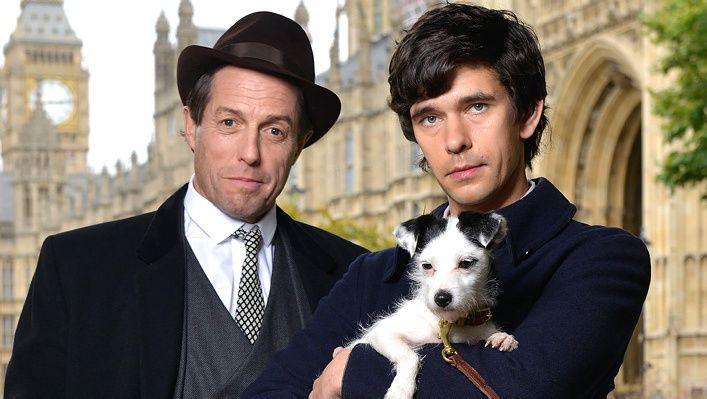 ELLEVILT: Hugh Grant har rollen som Jeremy Thorpe og Ben Whishaw spiller Norman Scott i «Ein engelsk skandale»