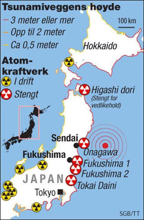 UTSATT: Her ligger de utsatte atomkraftverkene. Foto: TOM BYERMOEN