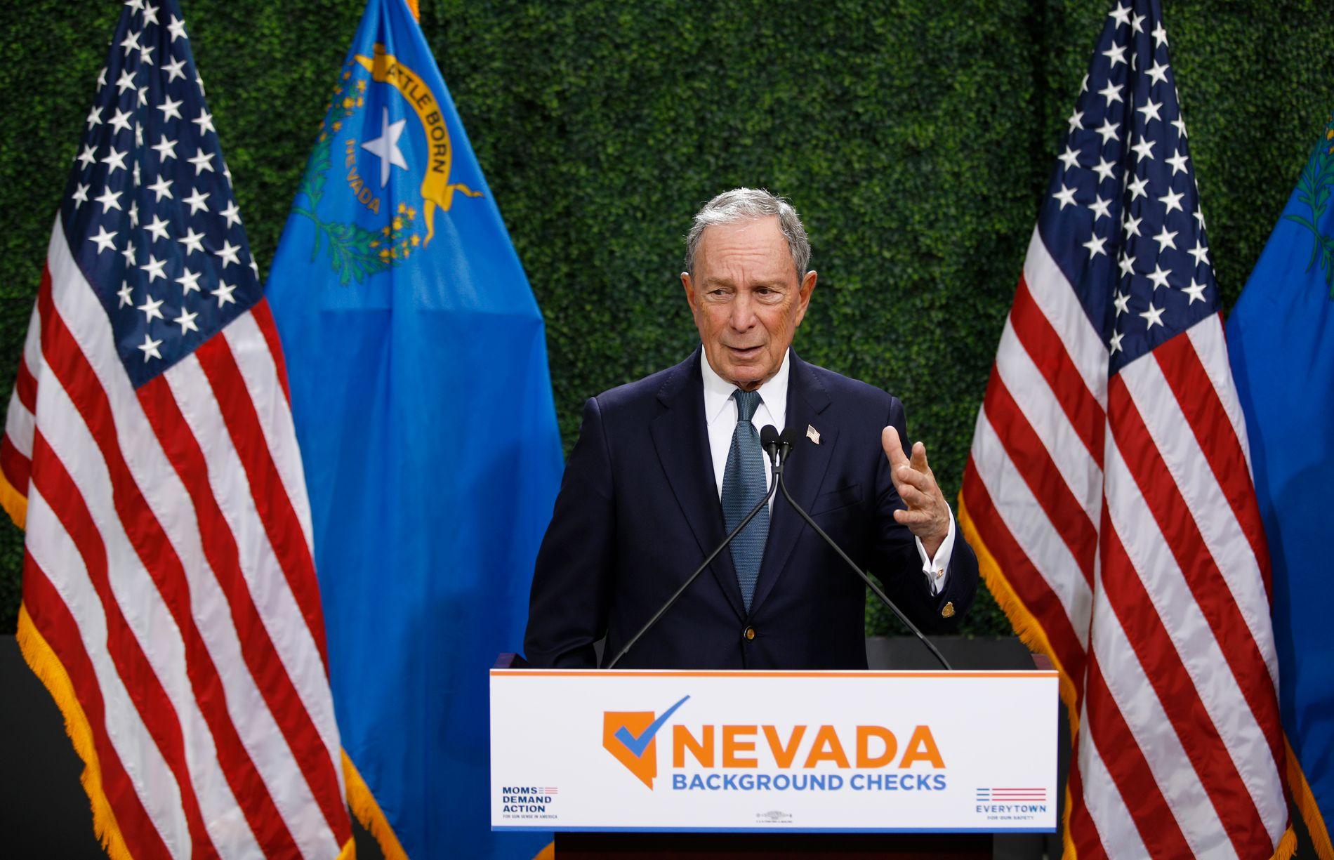 KANDIDAT? Ryktene om at Michael Bloomberg vil lansere en presidentkampanje går heftig. Her fra Las Vegas i februar.