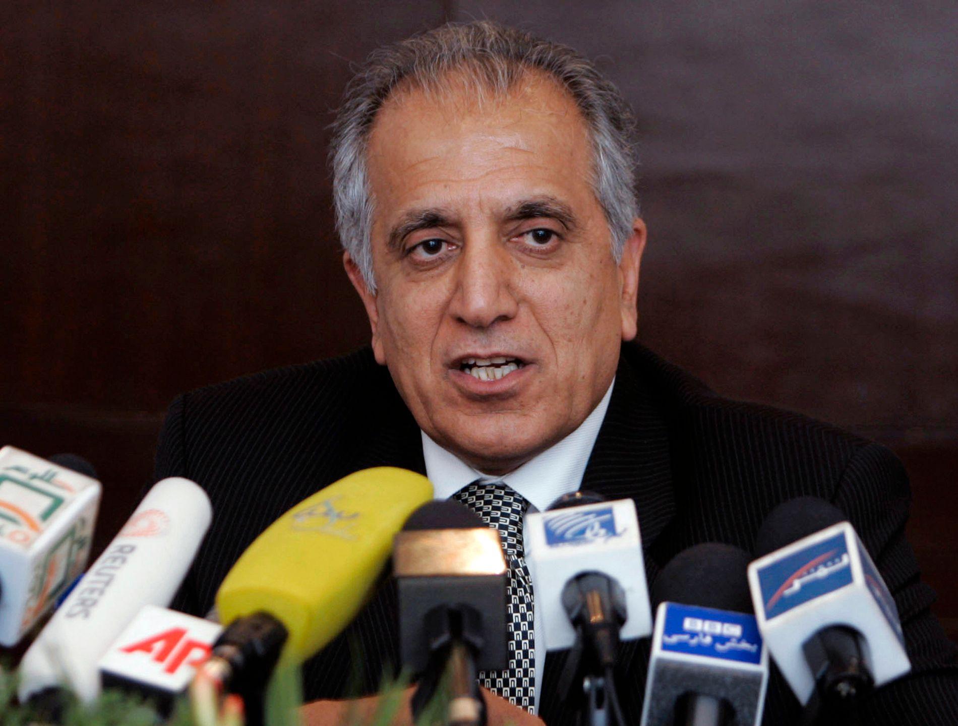 FORHANDLER: Zalmay Khalilzad har ledet den amerikanske delegasjonen under forhandlingene med Taliban.