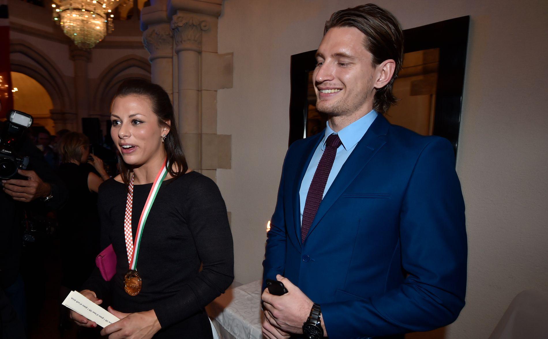 SLUTT: Nora Mørk med ekskjæresten Stefan Strandberg.