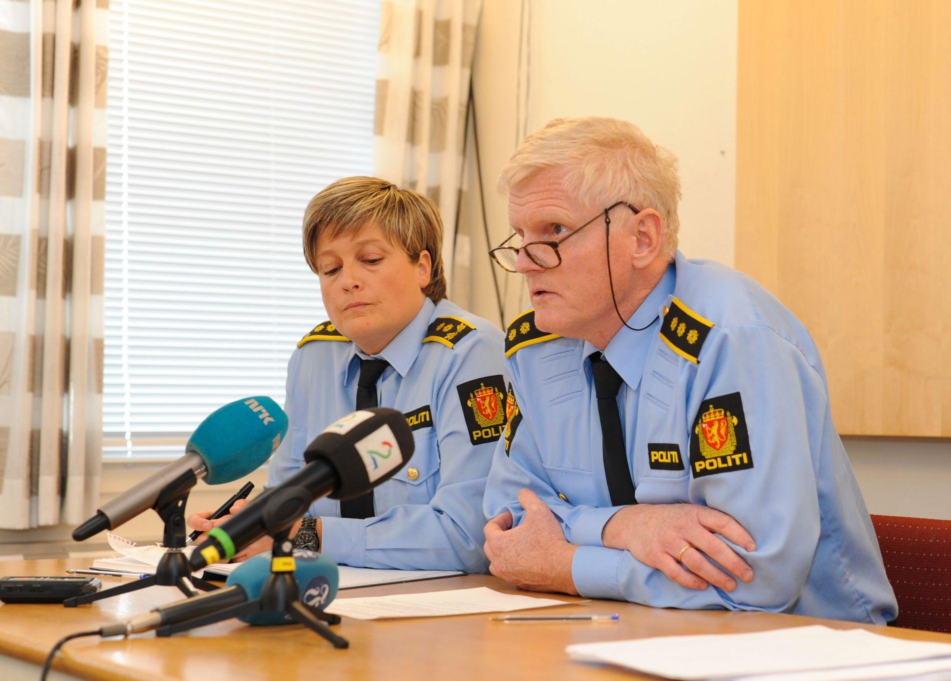 AKSJONERTE: Leif Vagle, her under en pressekonferanse i Mandal i april 2015, opplyser at aksjonen mot massasjesalongene i Kristiansand skjedde etter en tids etterforskning.