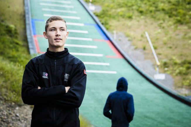 TOK EN DOBBEL I JAPAN: Philip Sjøen tok sin andre seier på to dager da han vant hopprennet i Hakuba i Japan i dag. Her er han foran Midstubakken ved en tidligere anledning.