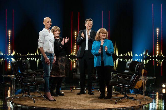 I KVELD: Gunhild Stordalen t.v. er blant gjestene i Skavlan som sendes på NRK fredag.
