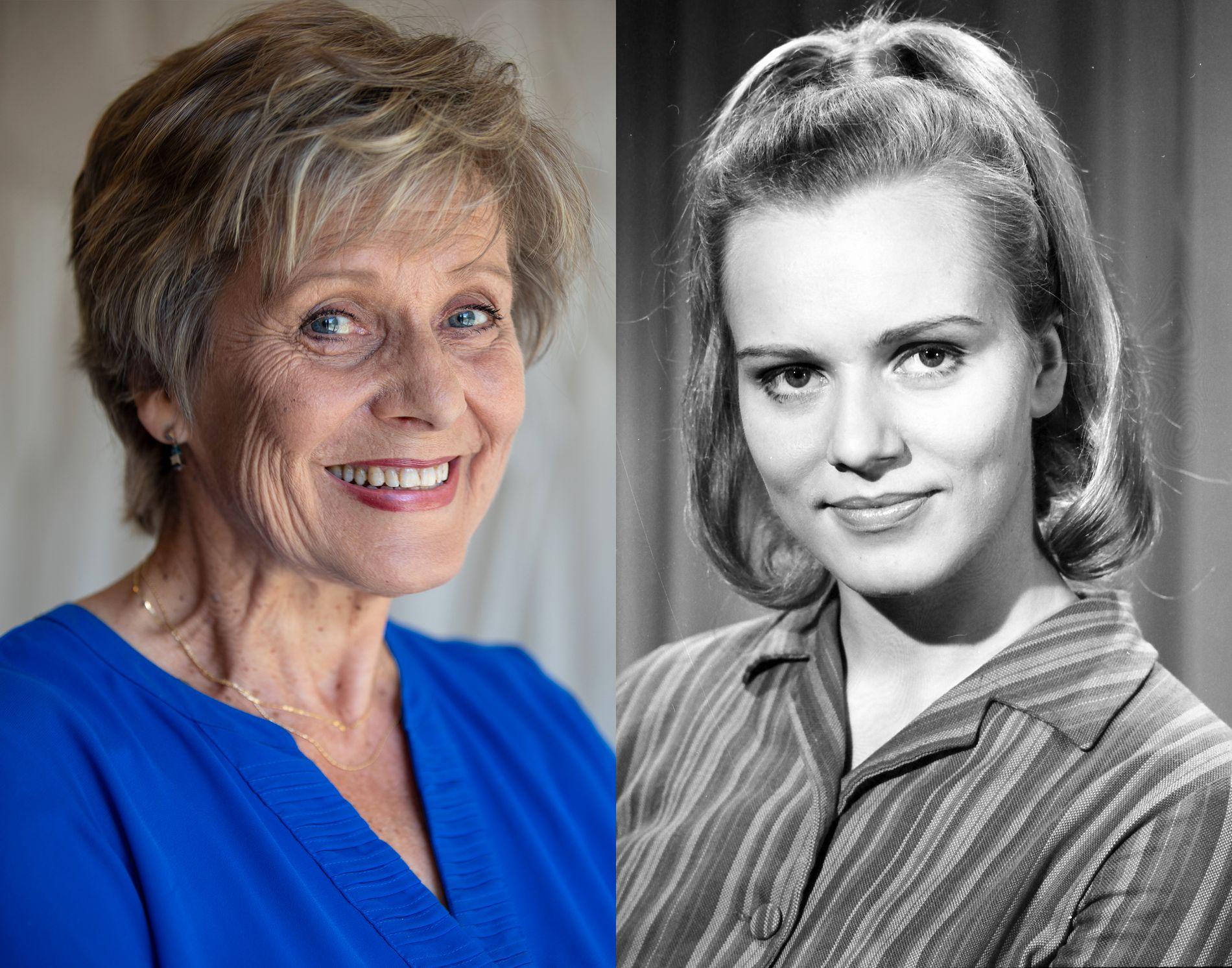 FØR: Ragnhild Sælthun Fjørtoft ble ansatt i NRK i 1969 og jobbet på Marienlyst i hele 45 år som kanalvert. Foto: NRK