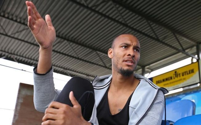 BACK IN NORWAY: Strømsgodset goalkeeper Adam Larsen Kwarasey (26) was looking forward to the World Cup experience. Kwarasey is now back in Norway talking about the scandals during the tournament, which ruined his football dream.