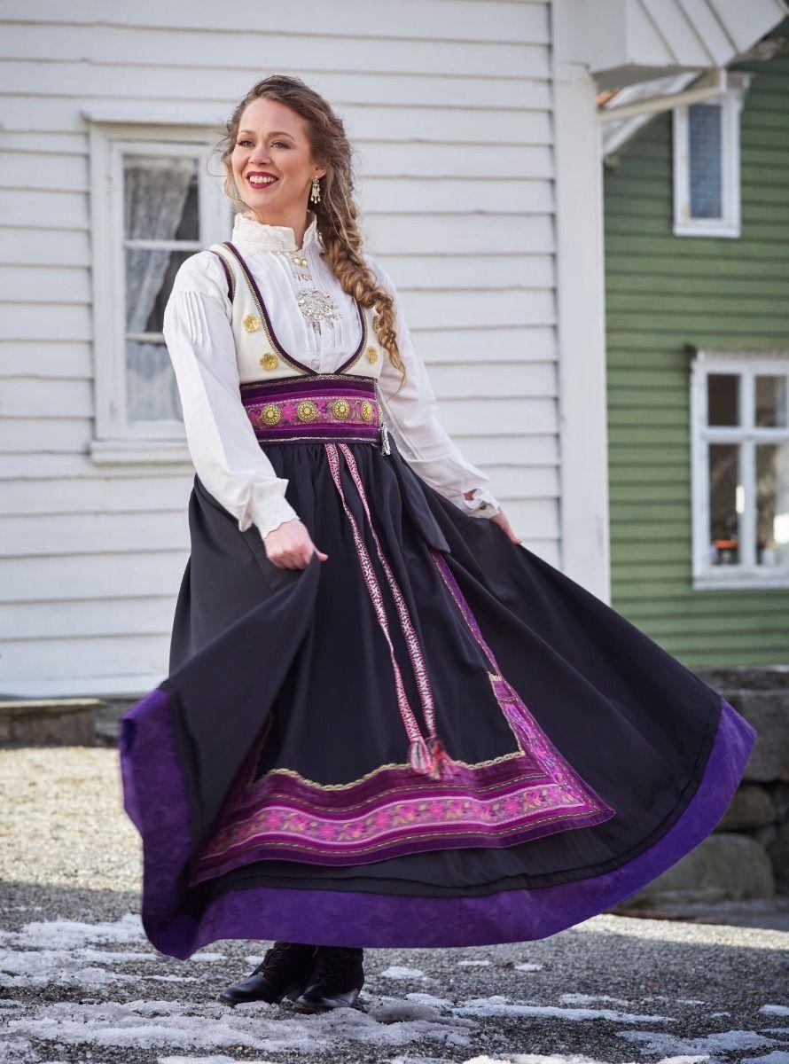 GODE BARNDOMSMINNER: Torunn Valland bodde flere år ved Møsvatn i Telemark i oppveksten, og har hentet inspirasjon herfra til drakten Fjellvåken.