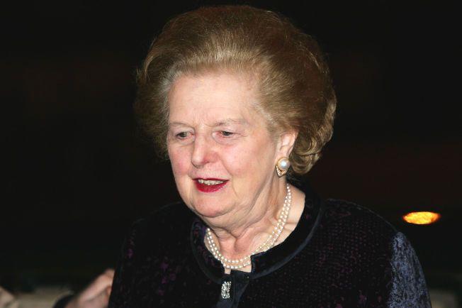 97c7e027 NEI TAKK: Kanskje var denne kjolen av de som var tiltenkt  museumsutstilling? Her ankommer den tidligere statsministeren i  Storbritannia et galleri i London ...