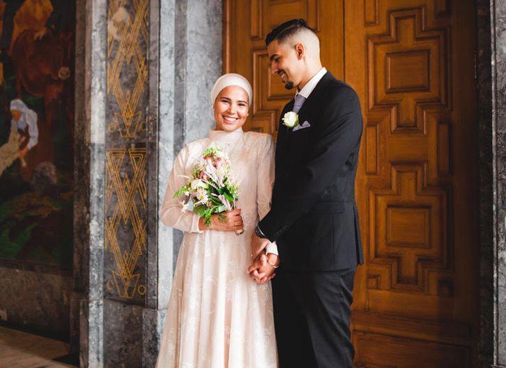 SA JA: Ett år etter at de møttes har Iman Meskini og Mourad Jarrari tatt forholdet ett steg videre.