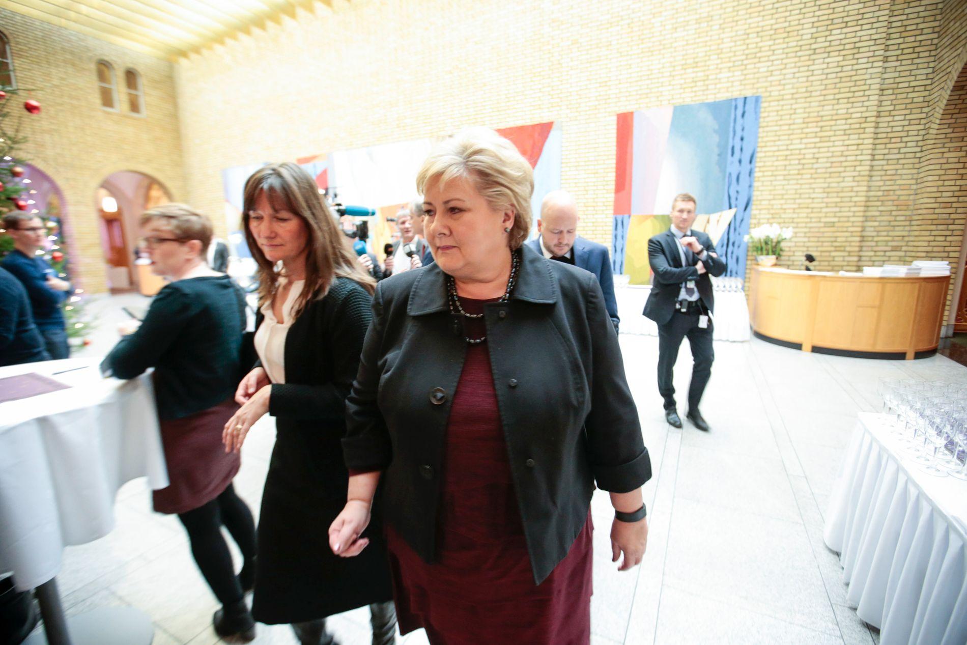 TJENER MEST: Trude Måseide, kommunikasjonssjef for statsminister Erna Solberg.