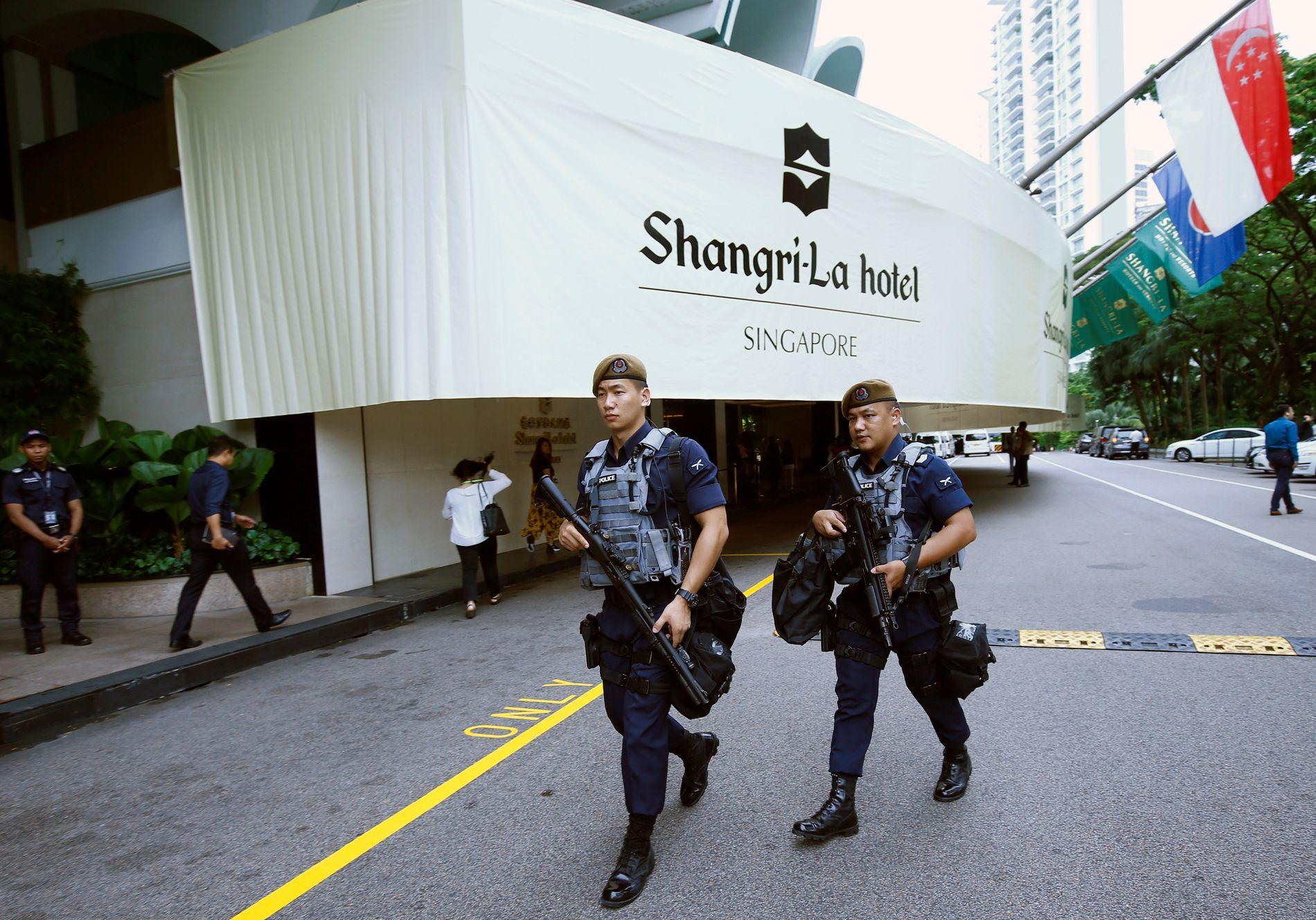 VAKTHOLD: Femstjernershotellet Shangri-La blir nevnt som mulig bosted for Donald Trump.