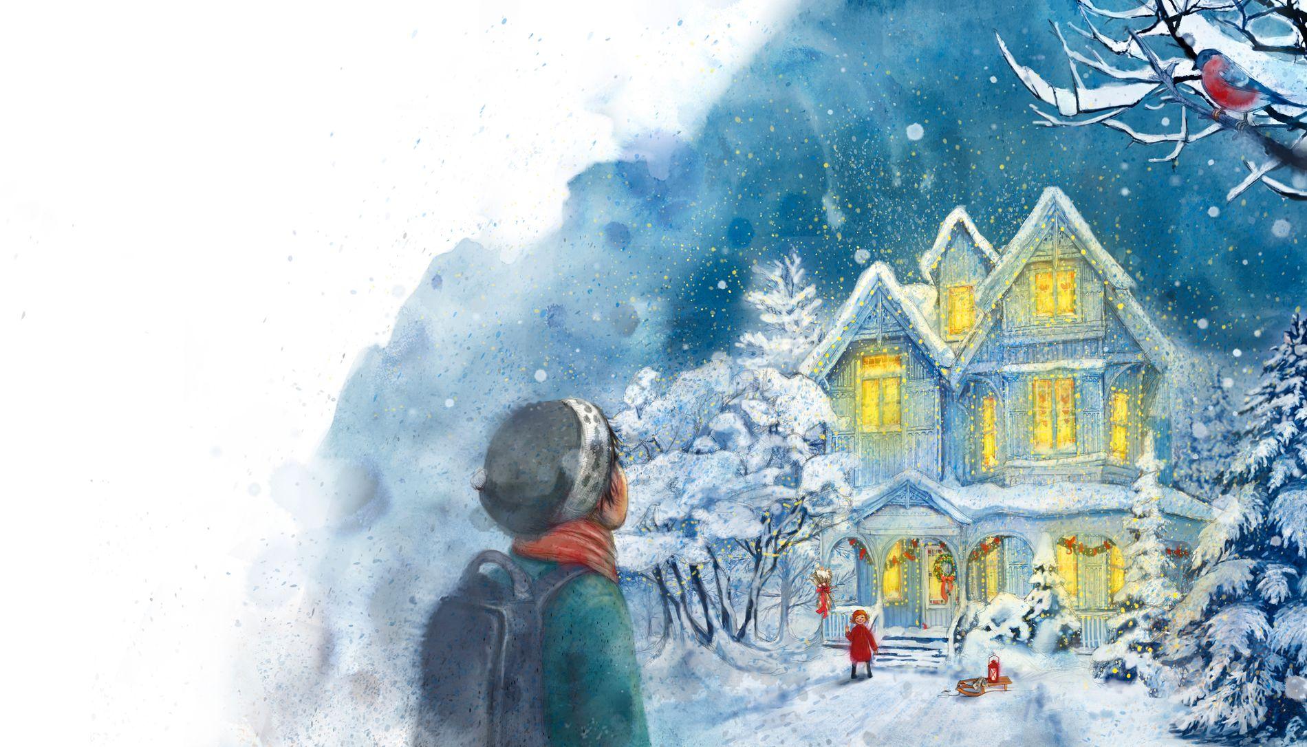 VILLA KVISTEN: Julian blir kjent med juleelskeren Hedvig som bor i dette huset.