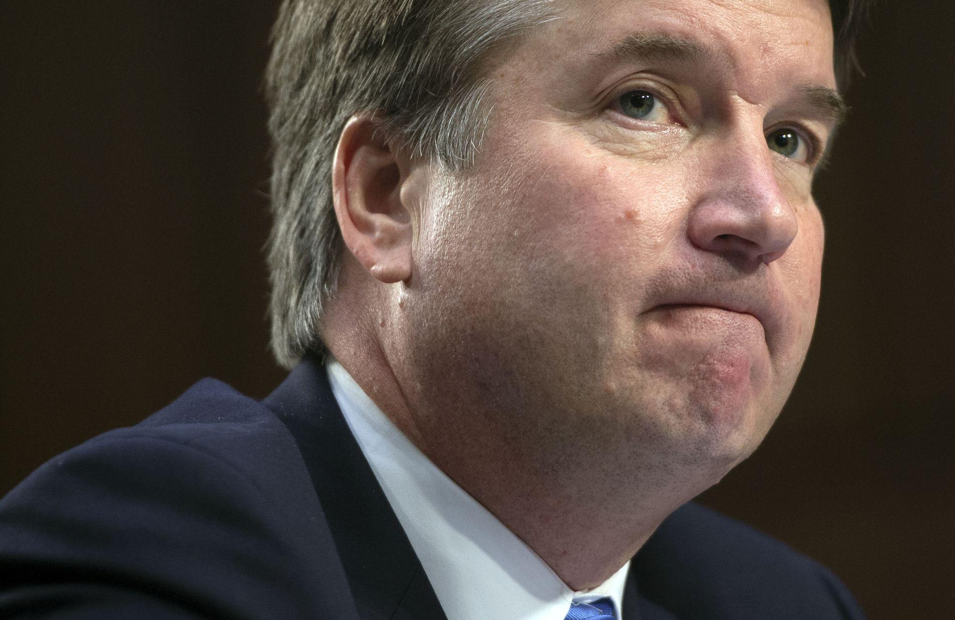 AVVISER ALT: Brett Kavanaugh sier at alle påstandene om ham fra studietiden er en del av en svertekampanje fra demokratiske senatorer.