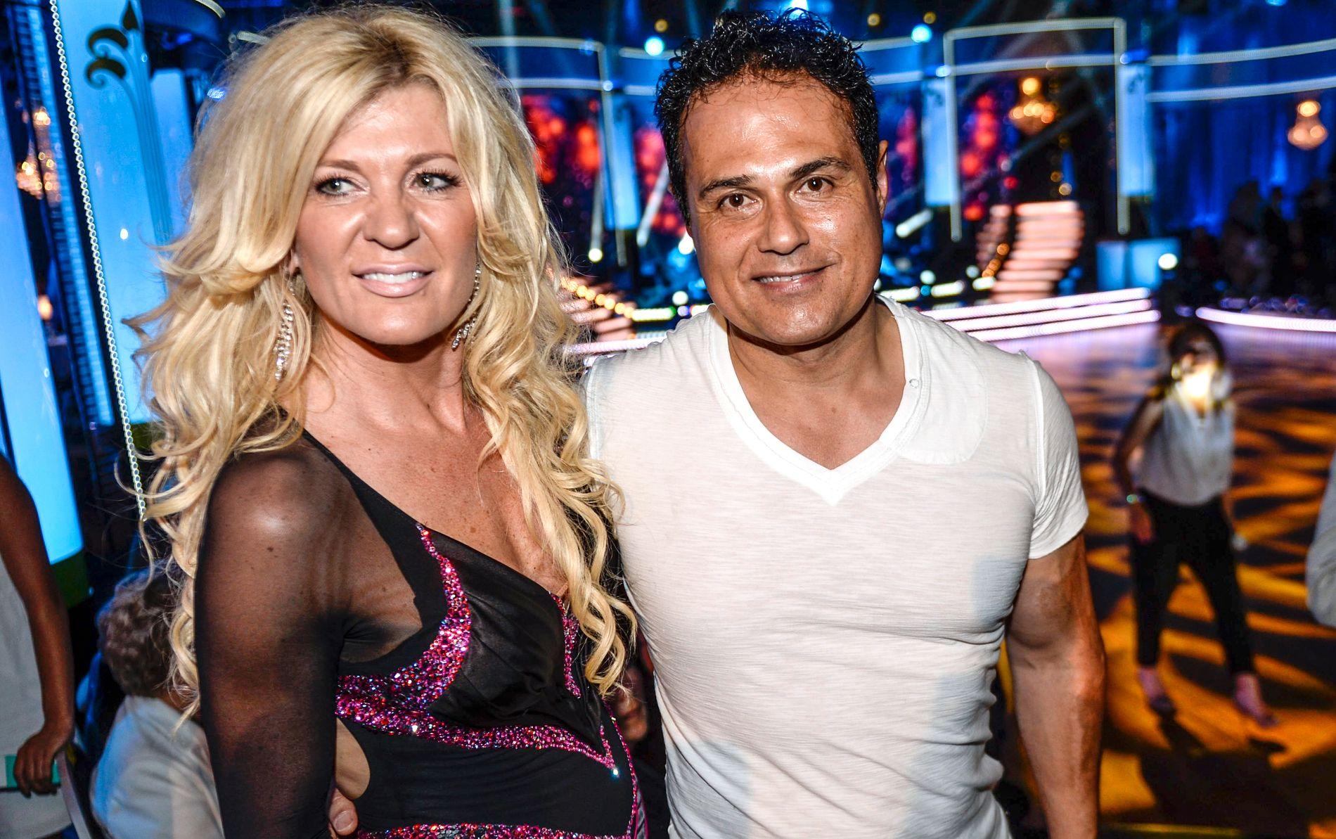 EKTEPAR: Maria Montazami og ektemannen Kamran Montazami under «Let's Dance», der han også tok turen til Sverige for å heie på kona.
