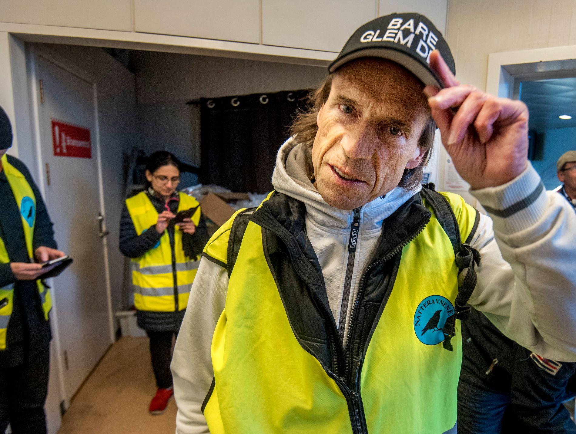 ILDSJEL: Jan Bøhler sitter i justiskomiteen på Stortinget, og var en av dem som startet opp natteravn-gruppen på Vestli. Her fra da VG møtte ham og de andre 4. mai, som var den første kvelden de gikk etter at politiet anmodet dem fra å gå etter hendelsene i april.