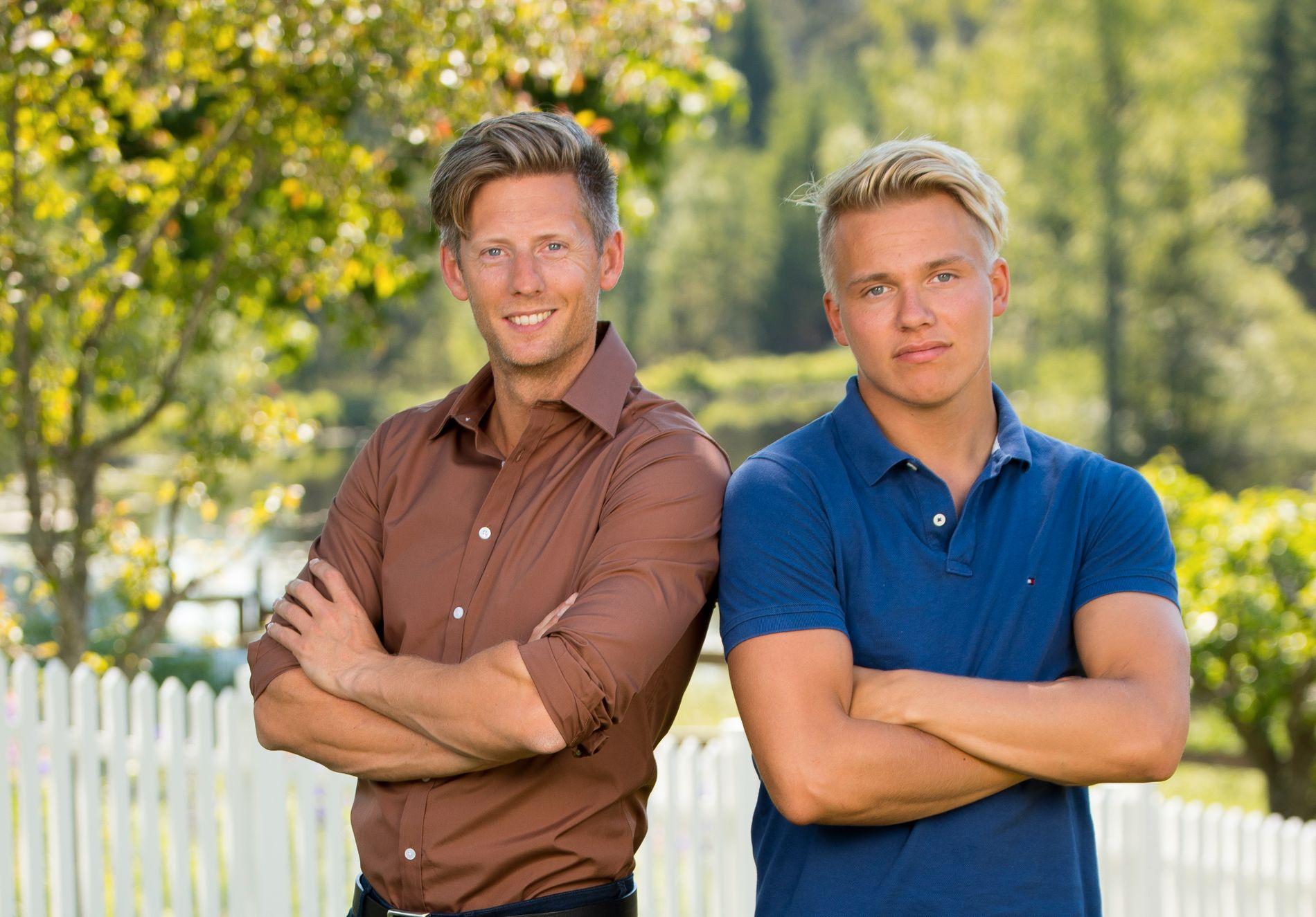 STILLE FØR STORMEN: Programleder Gaute Grøtta Grav og Erik Anders Sæter.