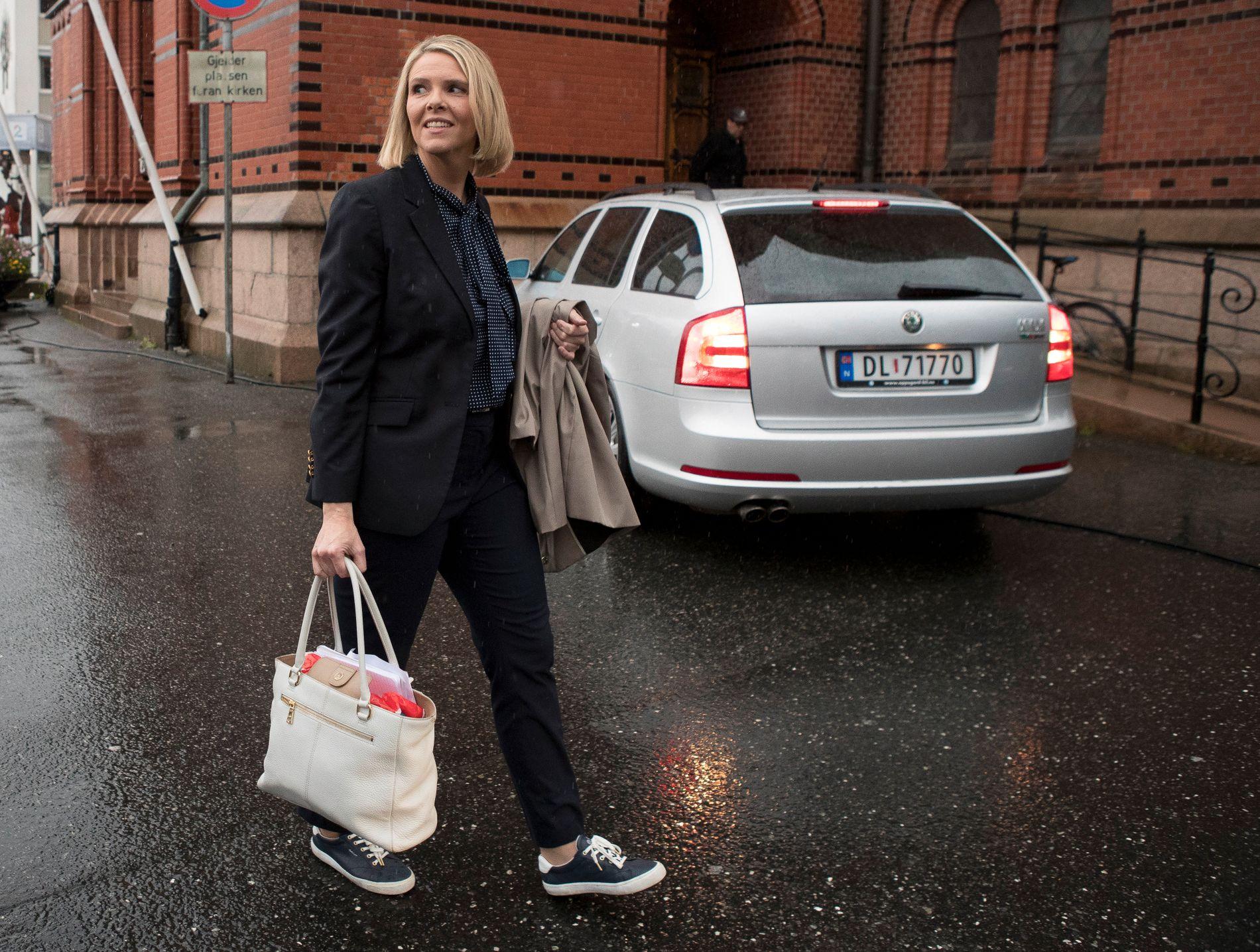 BESØKER RINKEBY: Sylvi Listhaug er på besøk i Sverige i dag, men møtet med den svenske integreringsministeren ble avlyst i siste liten. Her fra Arendalsuka.
