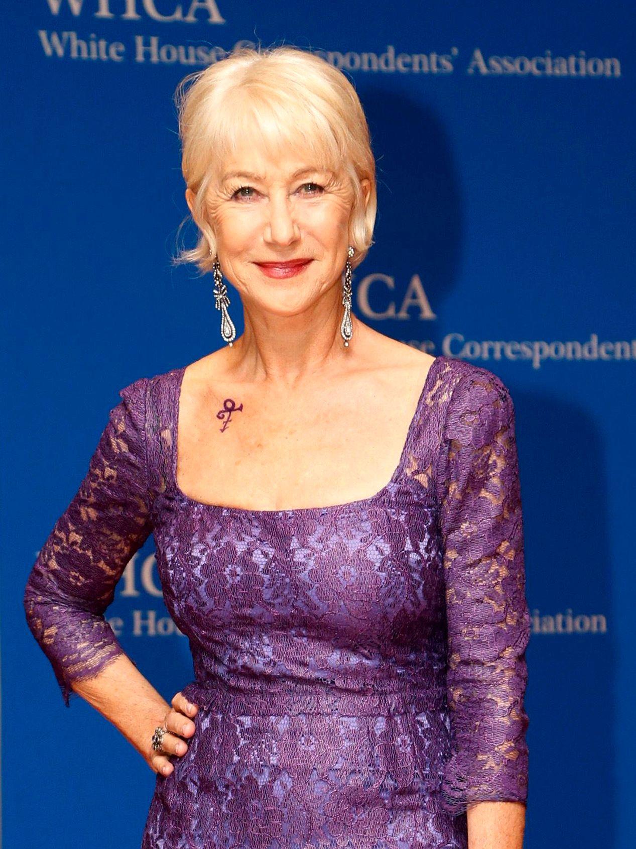 EN AV MANGE: Helen Mirren var en av mange Hollywood-kjendiser på festen lørdag.