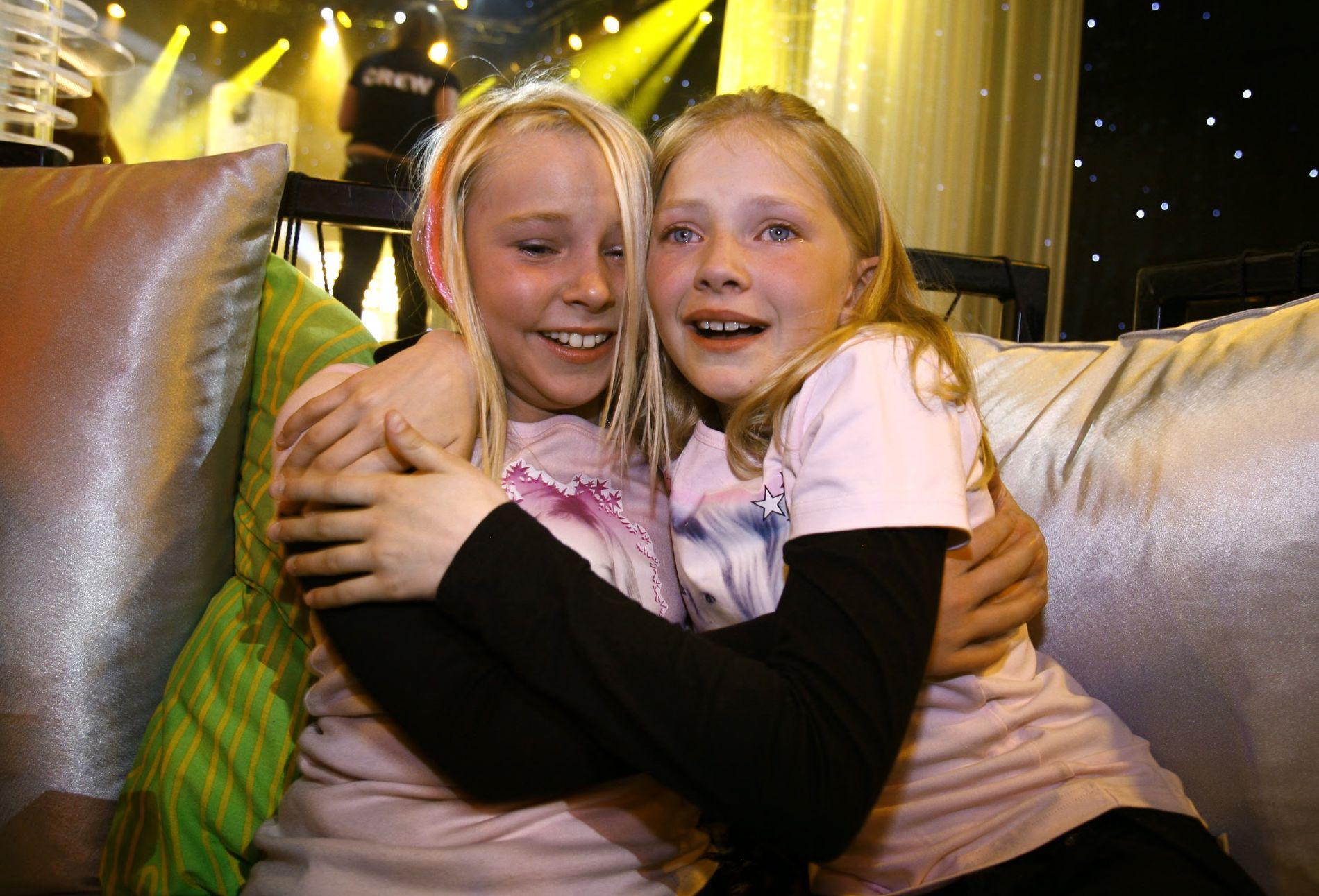 PÅ VINNERLAGET: Astrid Smeplass (t.h.) var den Celine Helgemo sang om da hun vant MGP Jr. med sangen «Bæstevænna» i 2007.