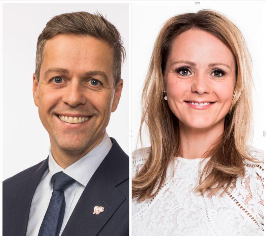 Knut Arild Hareide (KrF) og Linda Hofstad Helleland (H)