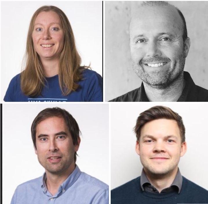 Solfrid Håbrekke, forsker, Tony Kråkenes, seniorforsker, Tor Erik Evjemo, forsker, og Asbjørn Lein Aalberg, forsker