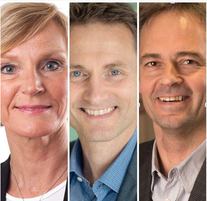 Nina Dahl, Håvard Moe og Hans Erik Vatne