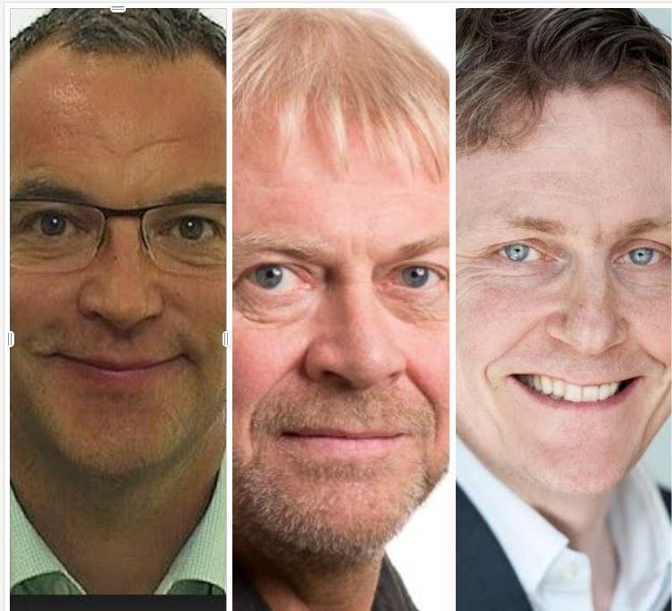 Morten Dalsmo, Torbjørn Svendsen og Bjørn Taale Sandberg
