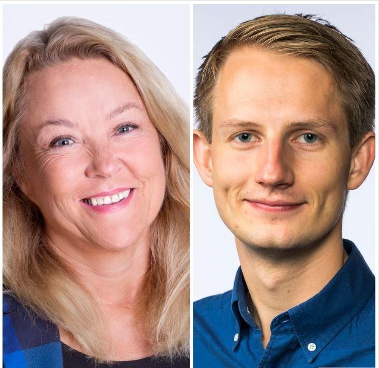 Ingebjørg Folgerø (H) og Aleksander Stokkebø (H)