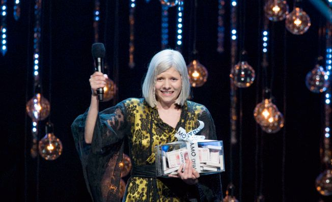 VINNER: Aurora Aksnes Årets nykommer og fikk Gramostipend på Spellemannprisen 2015 i Oslo Spektrum lørdag kveld.