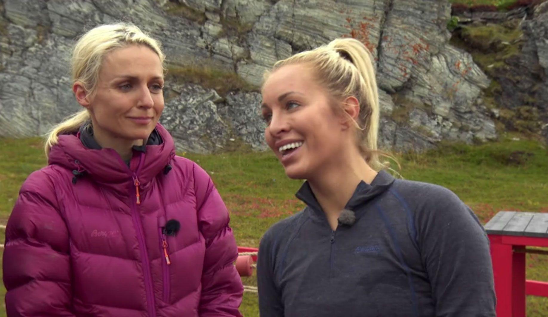 RØK: Carina Dahl tok nederlaget med fatning. Nadya Khamitskaya (t.v.) er fortsatt med i kampen.