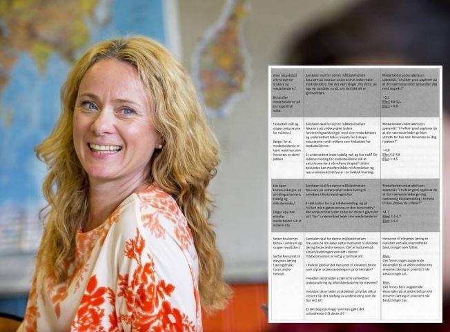FJERNET LÆRER-KARAKTERENE: Skolebyråd Anniken Hauglie (H) i Oslo mener de nye medarbeidersamtale-baserte skjemaene i Osloskolen er bedre enn de gamle, detaljerte rektorkontraktene.