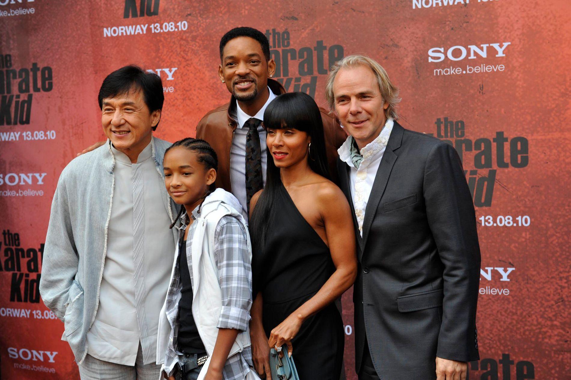 NORGESBESØK: Will Smith tok i 2010 turen til Norge og Fredrikstad i forbindelse med premieren av Harald Zwart-filmen «Karate Kid», der sønnen Jaden Smith hadde en rolle. Karate Kid. Med var også kona Jada Pinkett Smith. Til venstre: Jackie Chan.