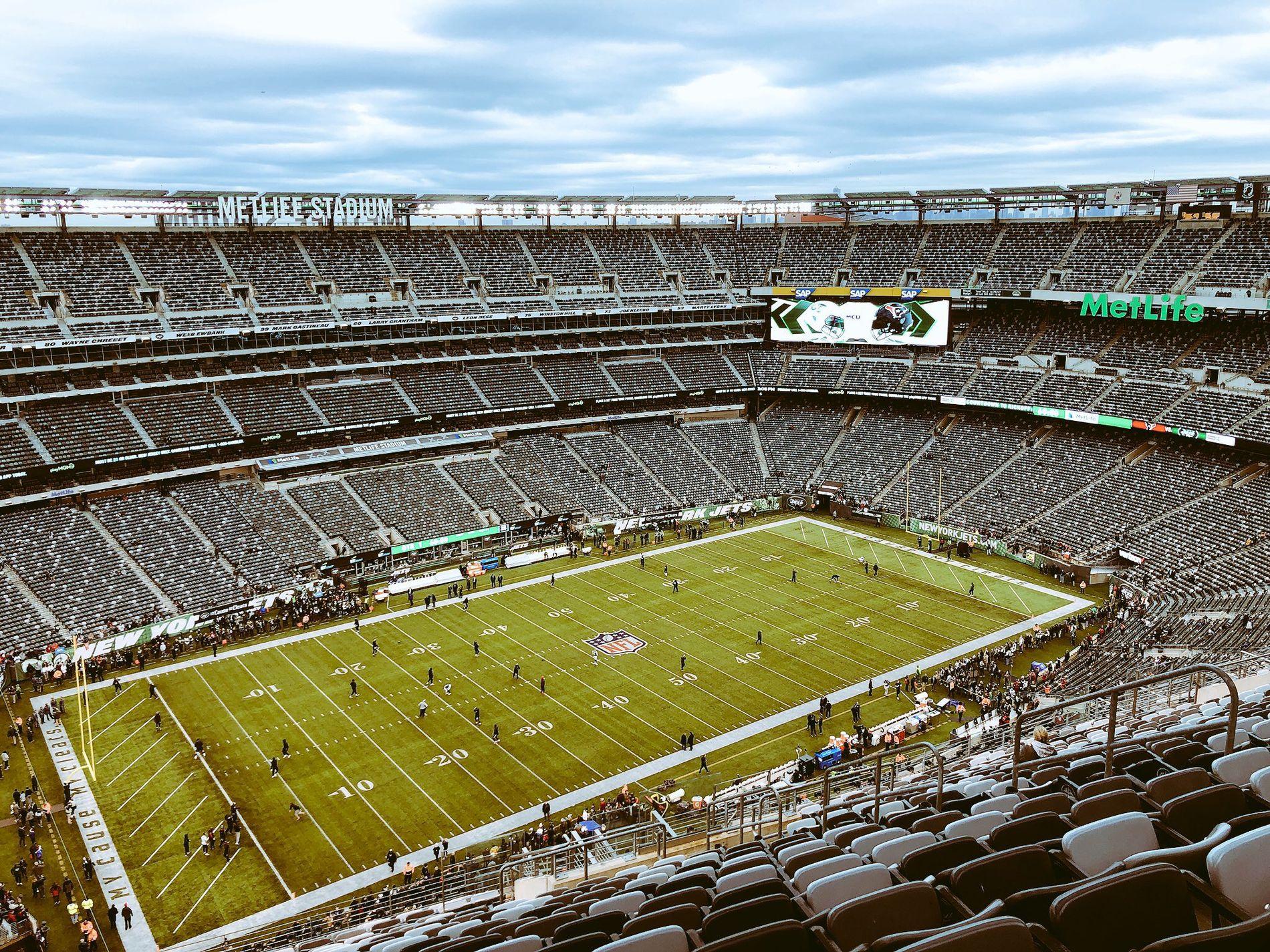NY HJEMMEBANE: Her skal Vedvik spille NFL-kamper denne sesongen, på MetLife Stadium i New Jersey.