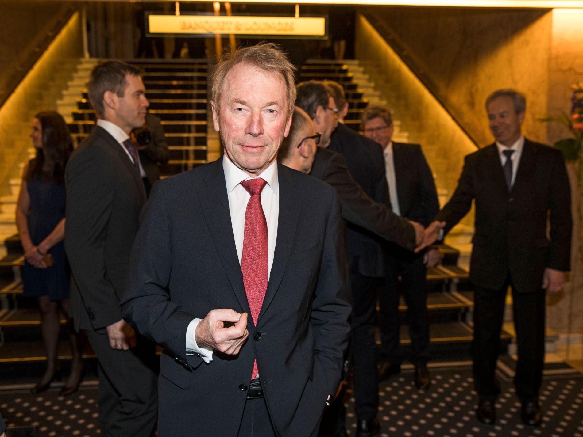PÅ TIDE: Jens Ulltveit-Moe mener det er på sin plass at de som kjøper de dyreste elbilene må betale ekstra. Bildet er fra Norges Banks årstale i 2016.