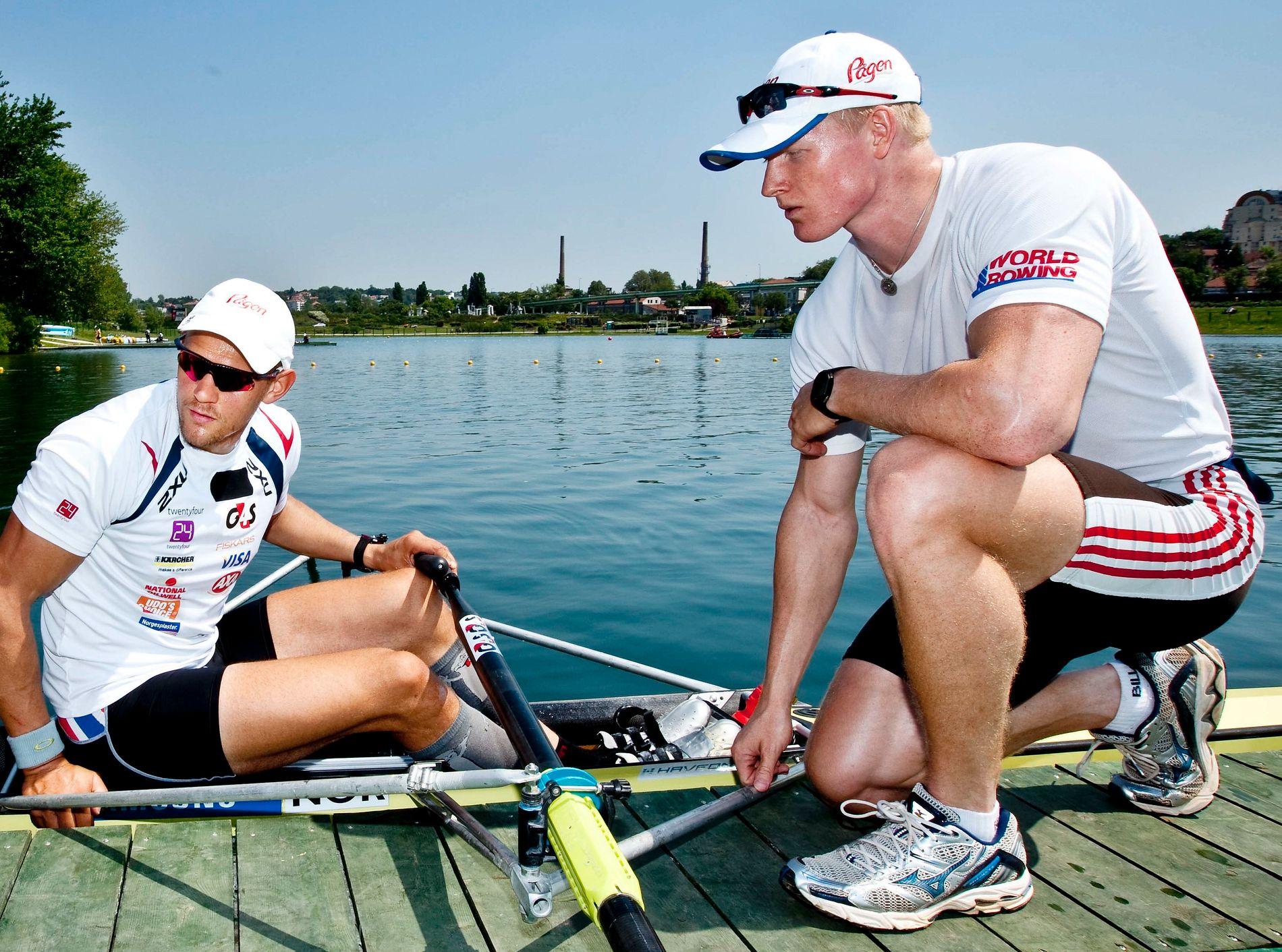OL-JAKT: Kjetil Borch (til høyre) og Olaf Tufte kjemper om OL-plass de neste dagene. Tirsdag faller avgjørelsen i Sveits.
