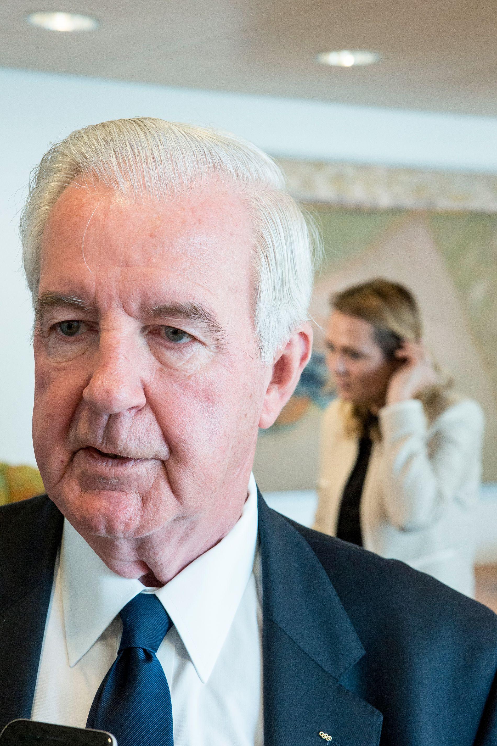 MØTTE HELLELAND: WADA-president Craig Reedie var i møte i kulturdepartementet denne uken.