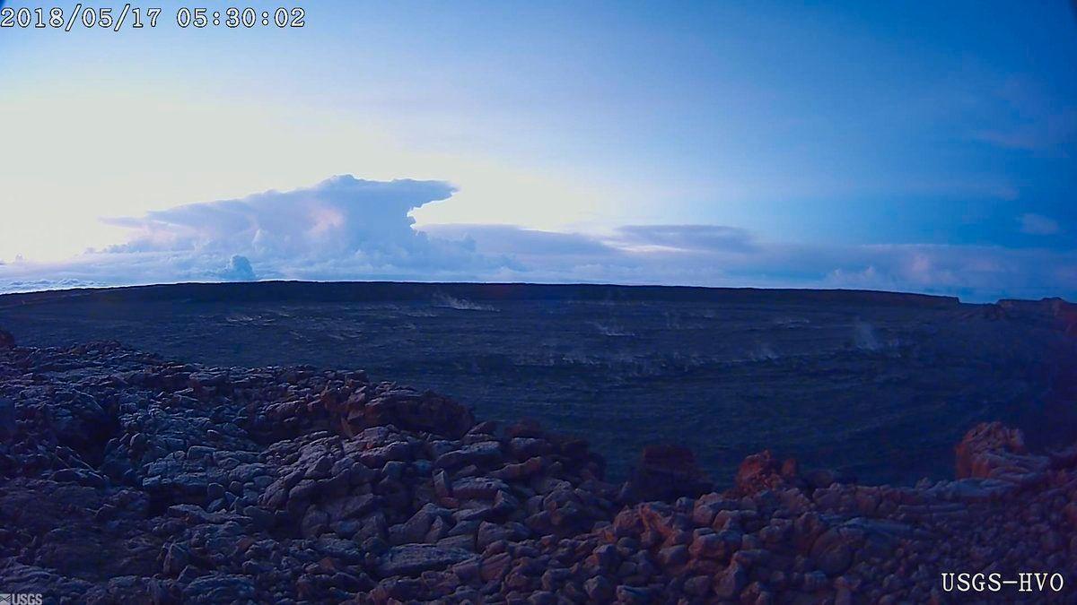 UTBRUDD: For to dager siden hadde vulkanen også et utbrudd.