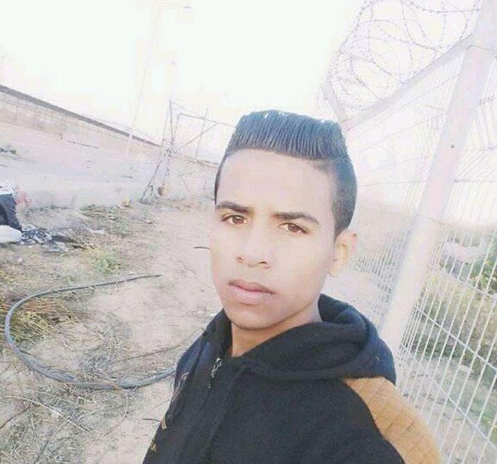 SELFIE VED GRENSEN: Et bilde Abdel Fatteh selv tok ved grensegjerdet inne på Gazastripen.